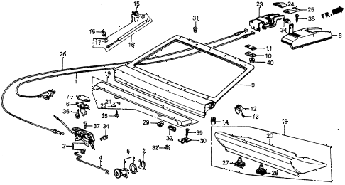 1985 crx DX 2 DOOR 3AT TAILGATE diagram