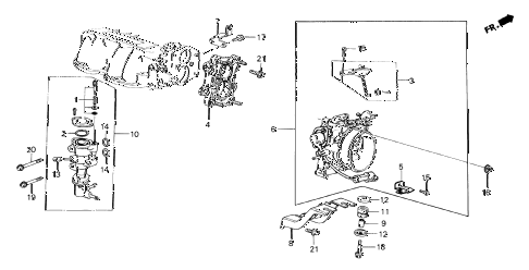 1985 crx SI 2 DOOR 5MT THROTTLE BODY (PGM-FI) diagram