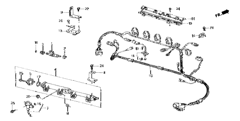 1987 crx SI 2 DOOR 5MT MAIN FUEL LINE (PGM-FI) diagram