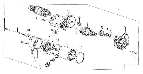 1985 crx DX 2 DOOR 3AT STARTER MOTOR (1.4KW/ND) diagram