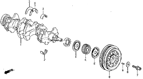 1984 crx DX 2 DOOR 5MT CRANKSHAFT diagram