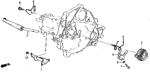1985 crx HF 2 DOOR 5MT MT CLUTCH RELEASE diagram