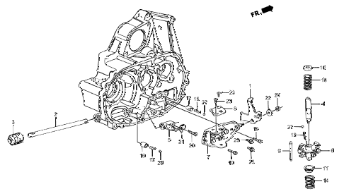 1987 crx SI 2 DOOR 5MT MT SHIFT ARM - SHIFT ROD diagram