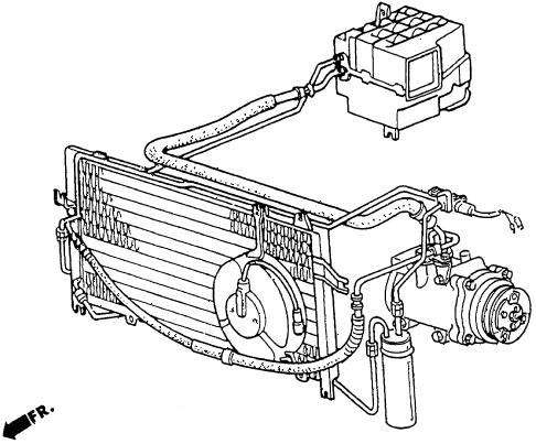 1986 crx DX 2 DOOR 5MT A/C AIR CONDITIONER diagram