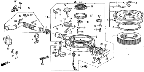 1987 civic DX(1500) 3 DOOR 5MT AIR CLEANER diagram
