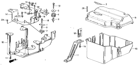 1987 civic SI(1500) 3 DOOR 5MT CONTROL BOX CASE (SI) diagram