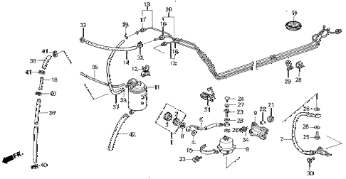 1987 civic SI(1500) 3 DOOR 5MT CANISTER - FUEL PIPE (SI) diagram