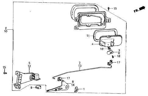 1986 civic SI(1500) 3 DOOR 5MT FRESH AIR VENTS diagram