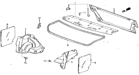 1987 civic GL 4 DOOR 5MT REAR TRAY 4DR diagram