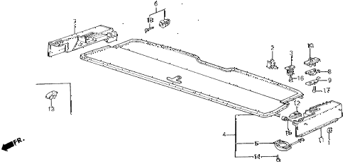 1987 civic **(1300) 3 DOOR 4MT REAR SHELF 3DR diagram