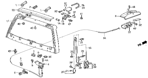 1987 civic DX(1500) 3 DOOR 5MT TAILGATE 3DR diagram