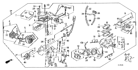1986 civic **(1300) 3 DOOR 4MT CARBURETOR diagram