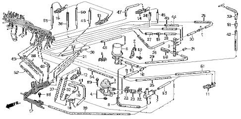 1986 civic GL 4 DOOR 5MT CARBURETOR TUBING (2) diagram