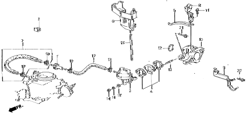 1987 civic GL 4 DOOR 5MT FUEL PUMP - FUEL TUBE diagram