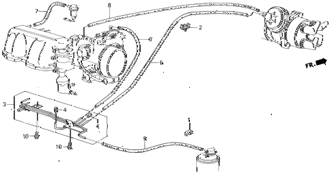 1987 civic SI(1500) 3 DOOR 5MT FUEL TUBING (SI) diagram