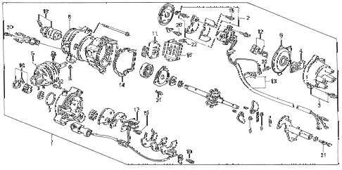 1986 civic SI(1500) 3 DOOR 5MT DISTRIBUTOR (TEC) (SI) diagram