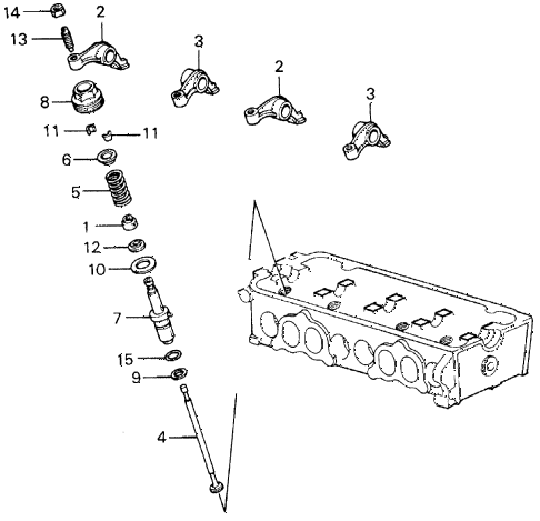 1987 civic **(1300) 3 DOOR 4MT AUXILIARY VALVE diagram