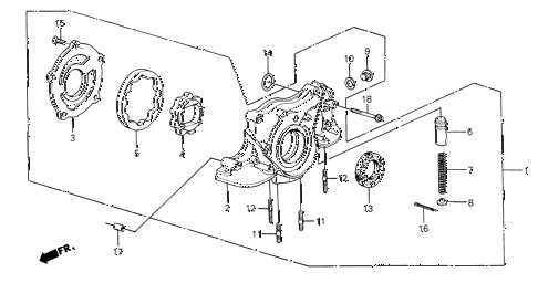 1987 civic **(1300) 3 DOOR 4MT OIL PUMP diagram