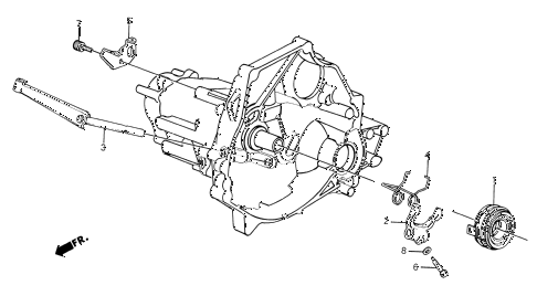 1986 civic SI(1500) 3 DOOR 5MT MT CLUTCH RELEASE diagram