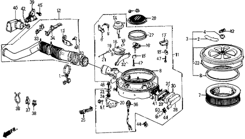 1987 civic WV 5 DOOR 5MT AIR CLEANER diagram