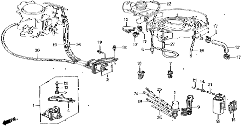 1987 civic WV 5 DOOR 5MT AIR CLEANER TUBING diagram