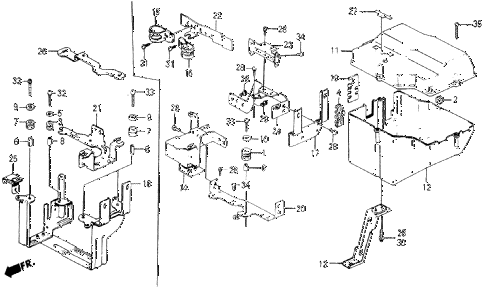 1987 civic WV 5 DOOR 5MT NO. 2 CONTROL BOX COVER diagram