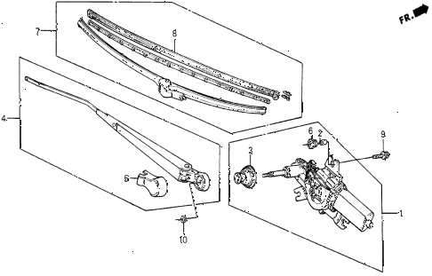 1987 civic DX 5 DOOR 5MT REAR WIPER diagram