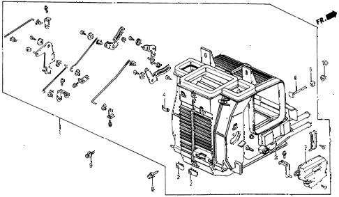 1987 civic DX 5 DOOR 5MT HEATER UNIT diagram