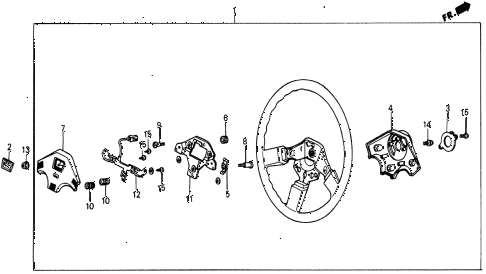 1987 civic DX 5 DOOR 5MT STEERING WHEEL (4) diagram