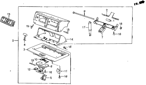 1987 civic WV 5 DOOR 5MT HOP UP AIR OUTLET diagram