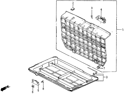 1987 civic DX 5 DOOR 5MT TRUNK BOX diagram