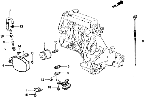 1987 civic WV 5 DOOR 5MT BREATHER CHAMBER diagram