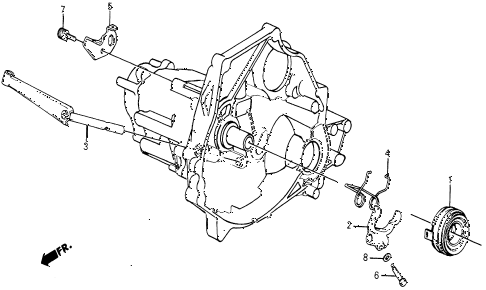 1987 civic DX 5 DOOR 5MT MT CLUTCH RELEASE diagram