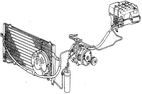 1987 civic WV 5 DOOR 5MT AIR CONDITIONER diagram