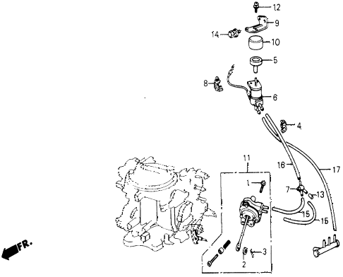 1987 civic DX 5 DOOR 5MT A/C SOLENOID VALVE (KEIHIN) diagram