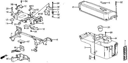 1986 civic 4WD 5 DOOR 5MT NO. 1 CONTROL BOX COVER diagram