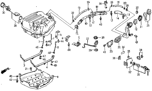 1986 civic 4WD 5 DOOR 5MT FUEL TANK diagram