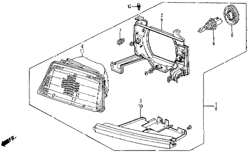 1986 civic 4WD 5 DOOR 5MT HEADLIGHT (2) diagram