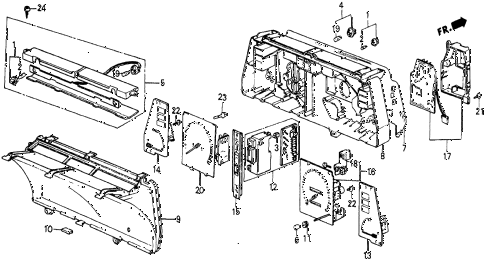 1986 civic 4WD 5 DOOR 5MT METER COMPONENTS (NS) diagram
