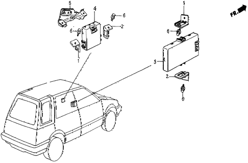 1986 civic 4WD 5 DOOR 5MT CONTROLLER diagram