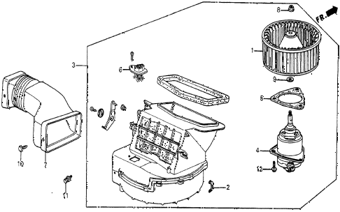 1986 civic 4WD 5 DOOR 5MT HEATER BLOWER diagram