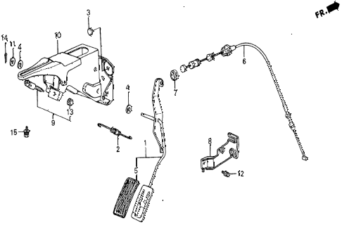 1986 civic 4WD 5 DOOR 5MT ACCELERATOR PEDAL diagram