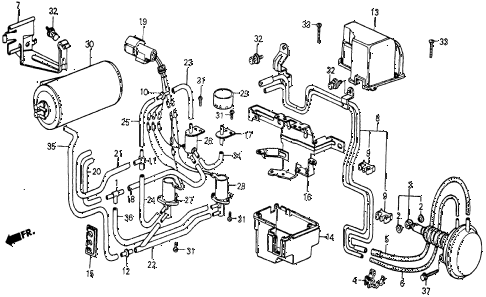 1986 civic 4WD 5 DOOR 5MT SELECT CONTROL 2/4WD diagram