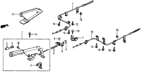 1986 civic 4WD 5 DOOR 5MT PARKING BRAKE diagram