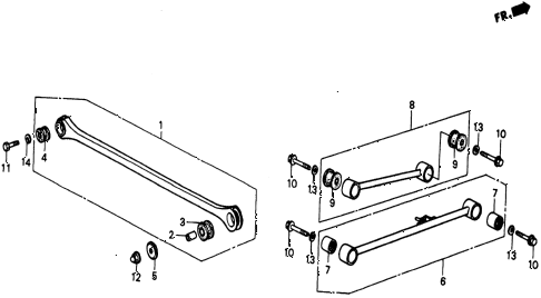 1986 civic 4WD 5 DOOR 5MT REAR LOWER ARM diagram