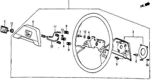 1986 civic 4WD 5 DOOR 5MT STEERING WHEEL (4) diagram