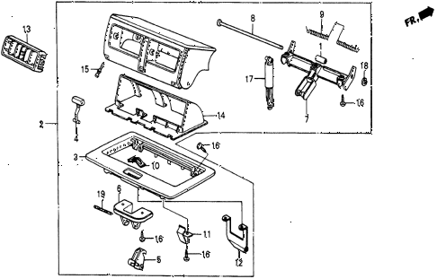 1986 civic 4WD 5 DOOR 5MT HOP UP AIR OUTLET diagram