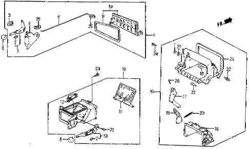 1986 civic 4WD 5 DOOR 5MT FRESH AIR VENTS diagram