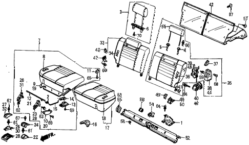 1986 civic 4WD 5 DOOR 5MT REAR SEAT diagram