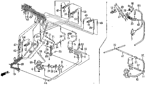 1986 civic 4WD 5 DOOR 5MT AIR VALVE - TUBING diagram